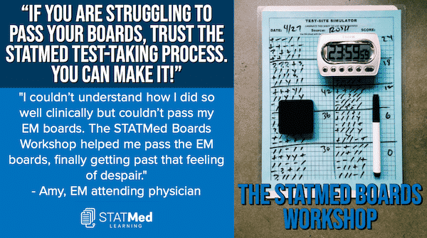 If you are struggling to pass your boards, trust the StatMed Process