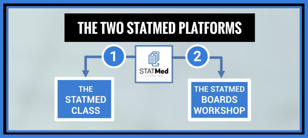 Picture: The Two STATMed Platforms, Study Skills Med School