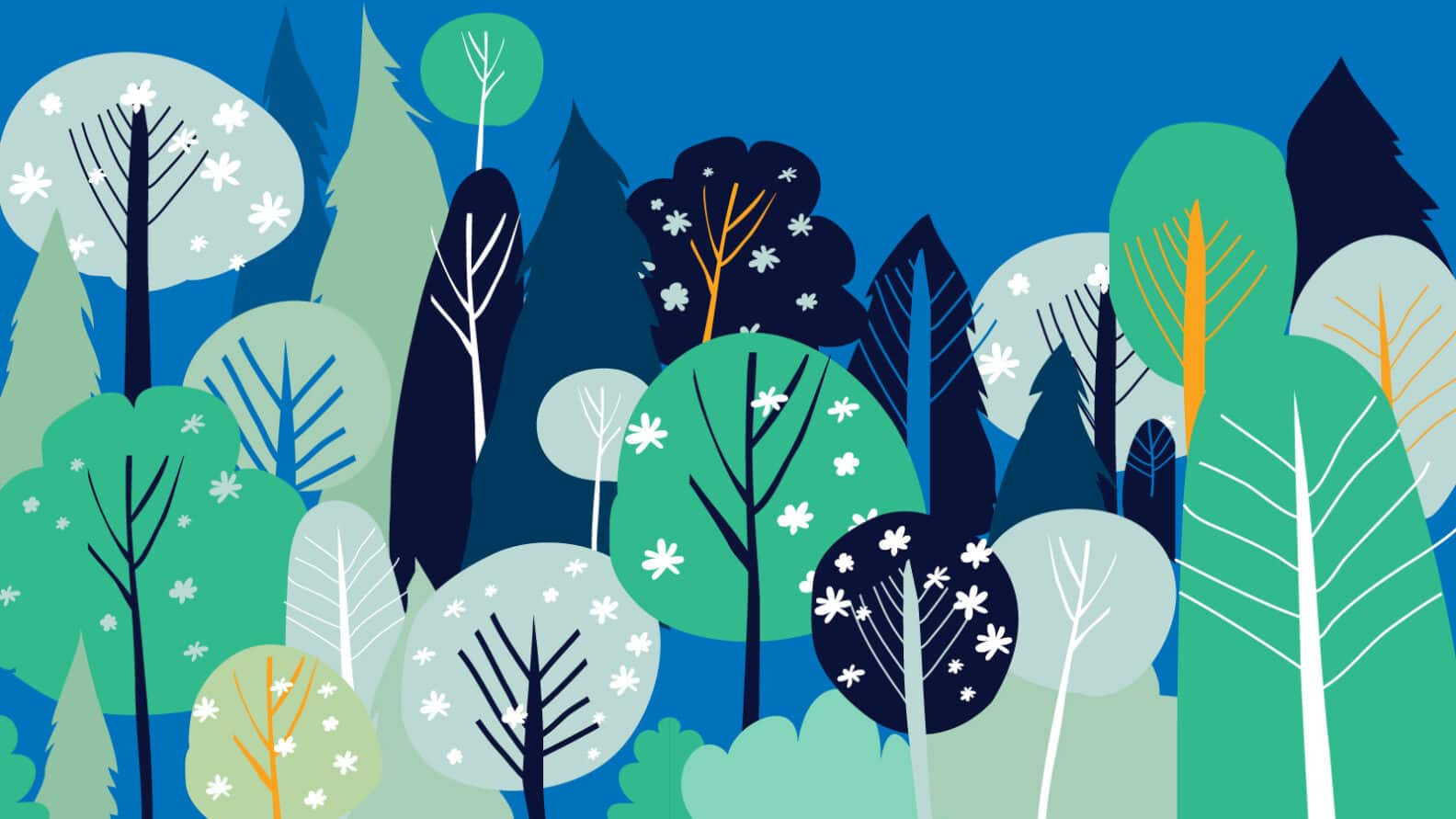 Illustration: forest and trees