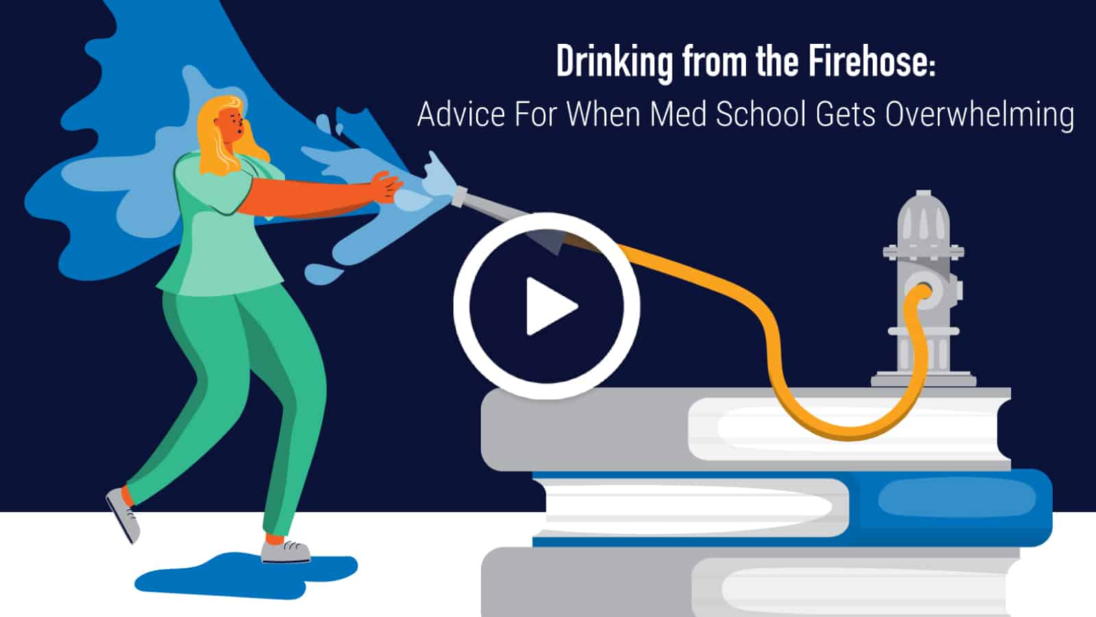 "Featured image for ""Drinking from the Firehose — How Two Students Learned to Overcome Information Overload and Keep Up in Med School"""