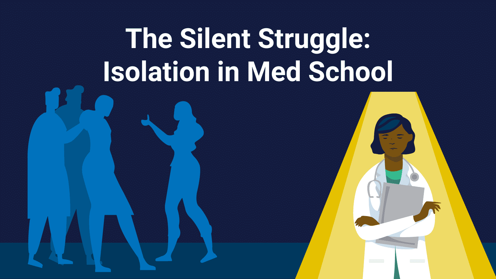 Medical student isolated from her peers
